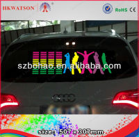 2013 newest bright flashing light up down car sticker led,music sound activated led car sticker