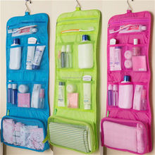 Mesh Foldable Organizer Cosmetic Makeup Toiletry Bag Hanging