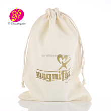 Custom Small Cotton Linen Drawstring Bag For Wedding