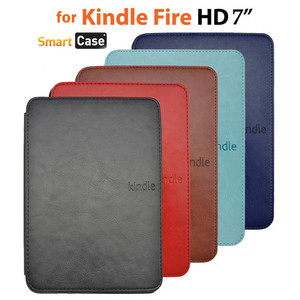 Slim Smart Leather Case Cover for New Kindle fire HD7