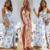 2019 New Arrival Women Bodycon Summer Casual Wholesale Floral Long Maxi Party Dress
