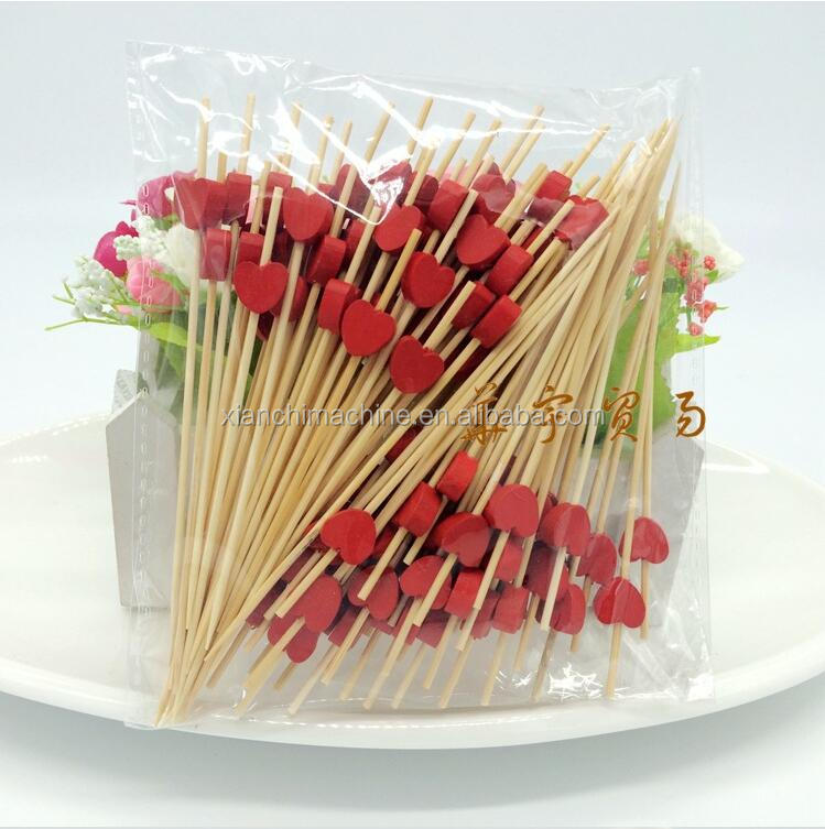 Two tips food individule cello wrap bamboo toothpick