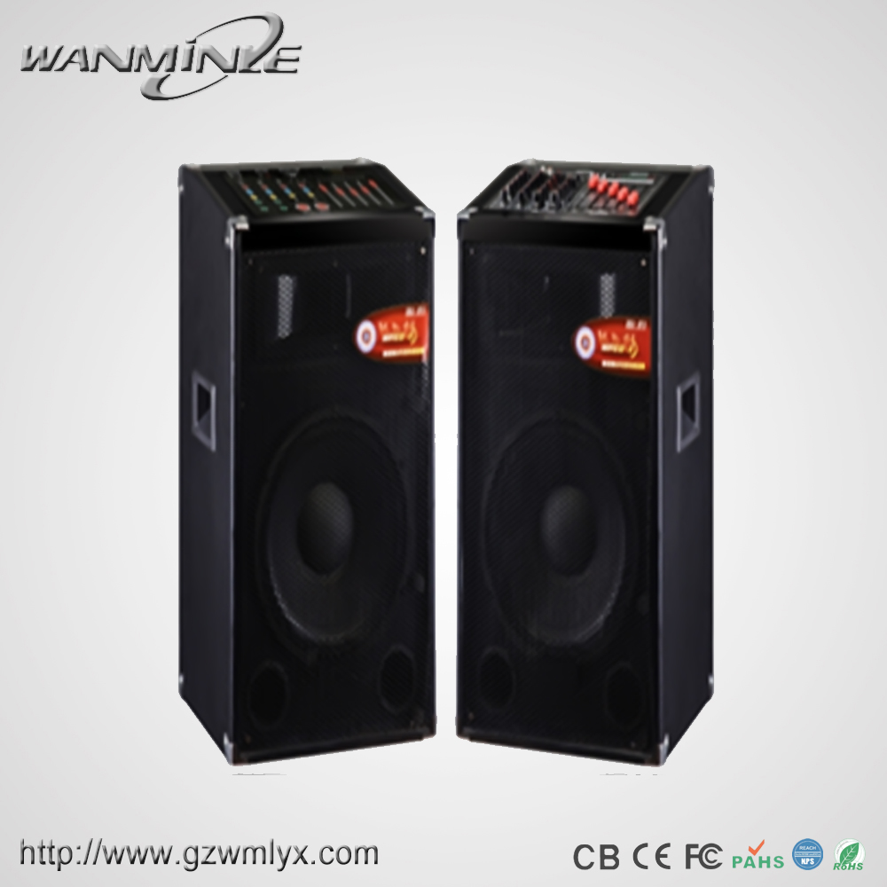 2017 New Model Powerful PA speaker 15Inch Woofer With Horn Treble Professional HIFI Wooden Speaker Box