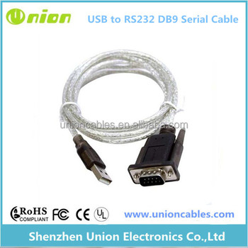 FTDI USB to serial RS232 adapter/converter, 1.8m long screened cable. Male DB9