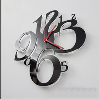 promotion acrylic wall hanging clock plexiglass wall clock perspex wall mounted clock for home decoration