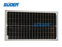 Suoer Wholesale Cheap Price Solar Panel 30W 18V Monocrystalline Silicon Solar Cell