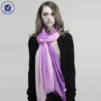 Customized Color and size SWC503 women cashmere pashmina scarf
