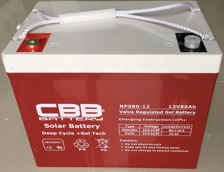12V 80AH Solar Battery Gel Deep Cycle Tech, EV Battery