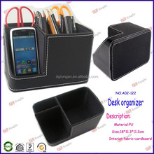 best selling products 2014 office furniture black leather mobile phone pen and pencil case A02-122