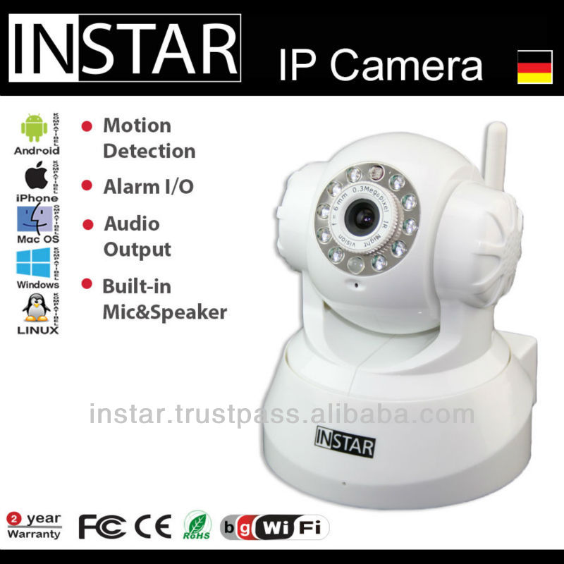 INSTAR IN-3011 Wlan IP Camera with CMOS Sensor and Nightvision