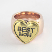 China alibaba aliexpress wholesale heart snap button for mother's day best mom
