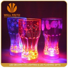 Led Flashing Cup Drinking led light with suction cup plastic cocacola glow glass