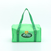 Custom logo printing green polyester cooler bag with button