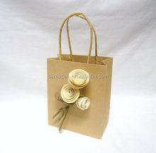 plain Kraft Paper Bag with brown twisted paper handle and clear window