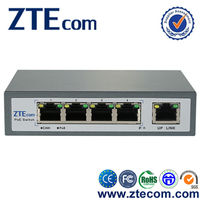 ZTEcom Plug and play High Power 5 ports Network Switch PoE Module with CE
