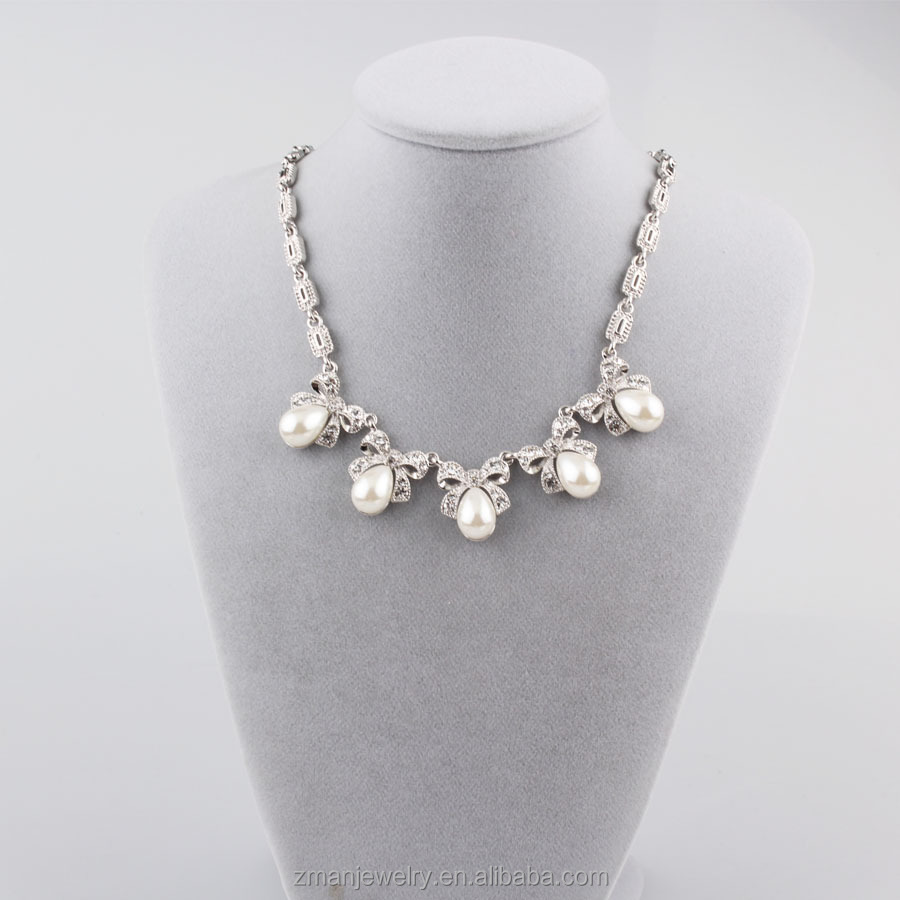 New Fashion Simulated Pearl Necklace Cute Charm Women Necklaces & Pendants