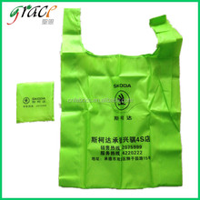 Reusable foldable nylon polyester shopping bag