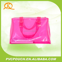 Custom print clear pvc plastic recyclable eco tote bag