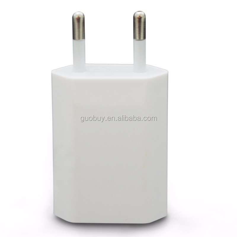 USB EU Wall Charger 5V 1A High Quality AC White Micro USB Power Adapter For Iphone 4S 5 5S 6 Xiaomi HTC LG Adapter USB Charger