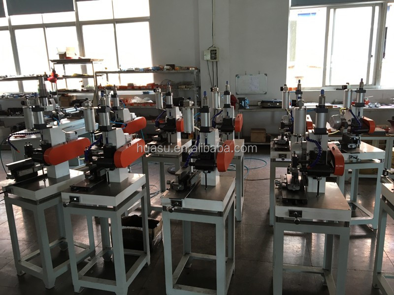 double head temple-top bending machine for one-body optical frames