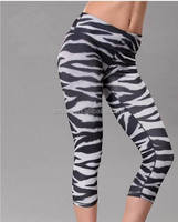 2015 newest and fashionable sublimation capri pants for women sport pants made 90% polyester and 10% spandex