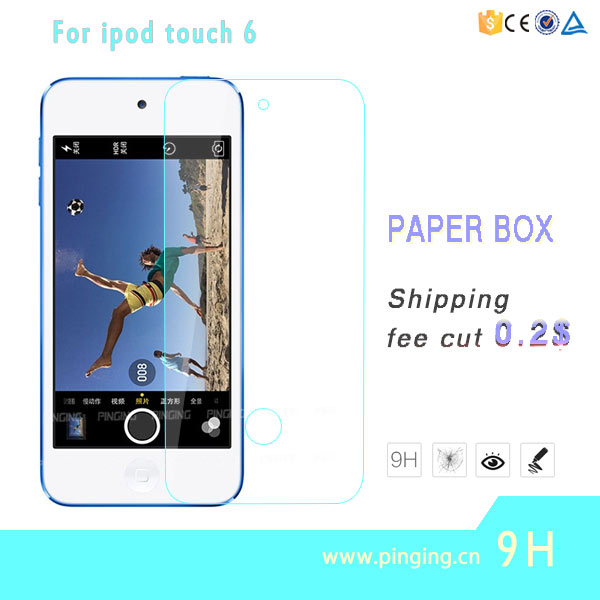 High quality mobile phone tempered glass screen protector For Ipod touch 6