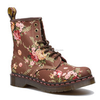 Online wholesale Ms. Victoria flowers brown canvas shoes sewing DR Martin boots on the new version of its 1460