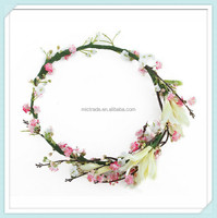 Flower Florals Crown Asian Hand Made Hair Accessories For Women