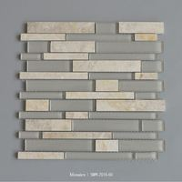 Bright Color Crystal Glass Mosaic Bathroom Tile Mosaic