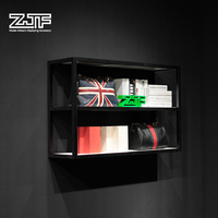 ZJF Modern deign wall book rack Magazine display shelf