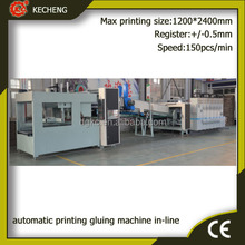 Automatic Carton Folder GLuer Machine with Printer Slotter Inline