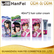 Professional factory long shinning allergy free 30ml*2 color cream henna hair dye