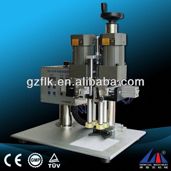 FLK high quality aluminum screw caps machine, tube capping machine, double heads capping