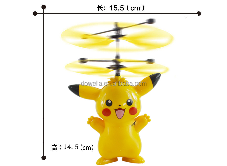 Customized plastic pokemon flying spinning toys/Induction flight