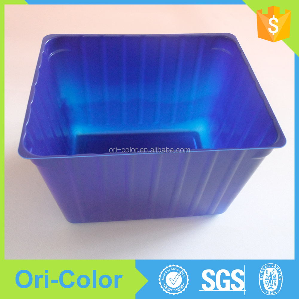 Blue Cheap disaposable plastic airline food tray packaging box
