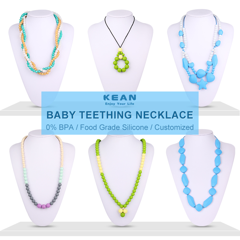 Silicone Teething Necklace for Babies Silicone Bead Necklace