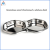 WB ZH2013 Wholesale Cheap Stainless Steel Shallow Dinner Dish Custom Hexagonal Dinner Plate
