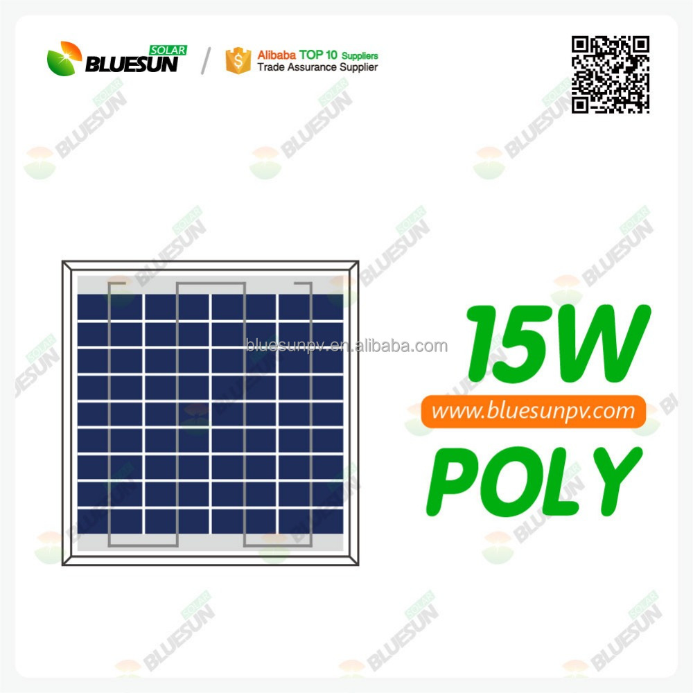 Mini size high efficiency price per watt poly 15w solar panel for sale