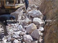 Oil Drilling White Barite Ore