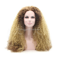 Wholesale 2015 front lace fashion synthetic hair wig