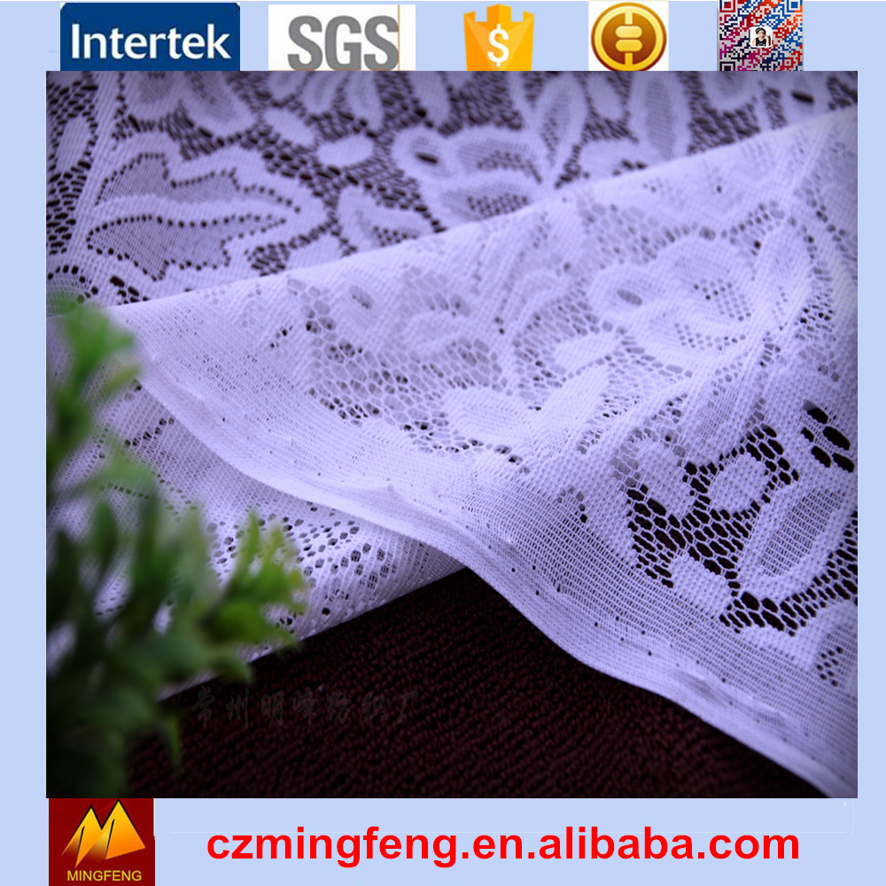 High Quality Woven Jacquard Chiffon Embroidery White Lace Fabric