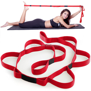Elastic Strap with 10 Flexible Loops Exercises Workout Yoga Pilates Stretch Resistance Strap Band