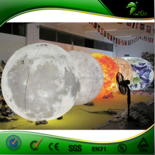 LED Inflatable Hanging Ball ,Inflatable Sphere Planet Balloon For Decoration