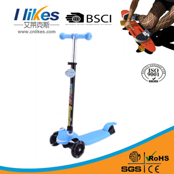 wholesale high quality three wheel kids scooter with roof