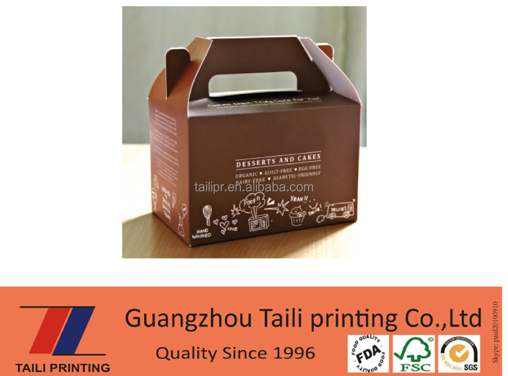 New style environmental paper food parcel box