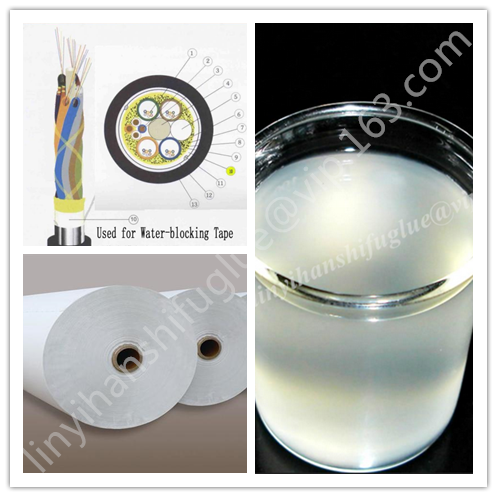 Safe PVA water based white latex adhesive glue for non-woven fabric bag/shoes/leather/cable water blocking warping tape
