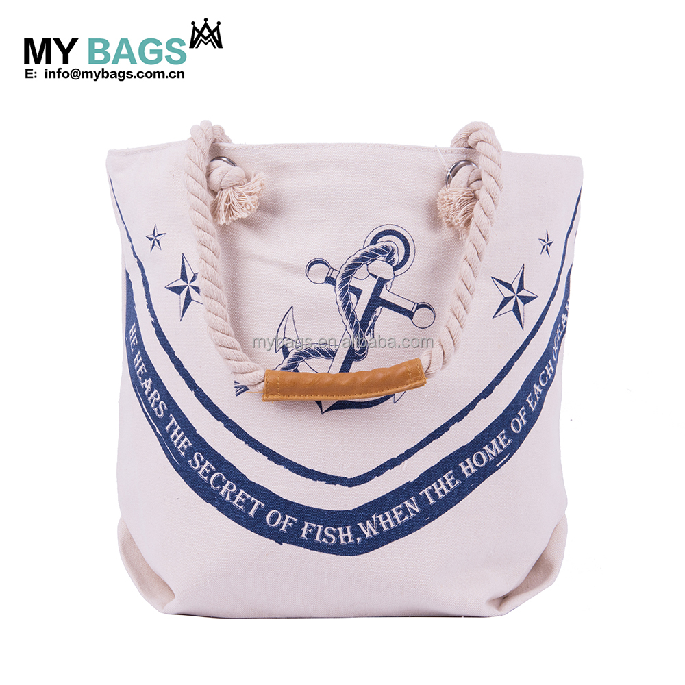 wholesale organic promotional plain heavy rope handle recycled small custom cotton bag with logo print