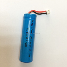 High quality Lithium ion battery ICR14500 700mAh 3.7V 2.59Wh discharge current 1A with PCB for battery pack