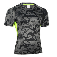 Cheap high quality Short sleeve quick dry compression shirt Strong mens
