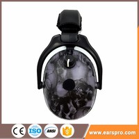Electronic Safety Ear Muffs Adjustable With Stereo Radio Headphone